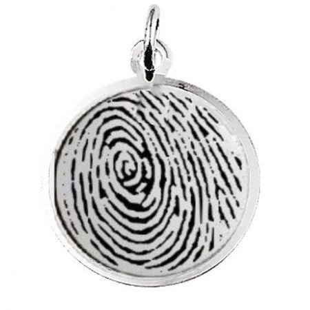 Zilveren Hanger Fingerprint