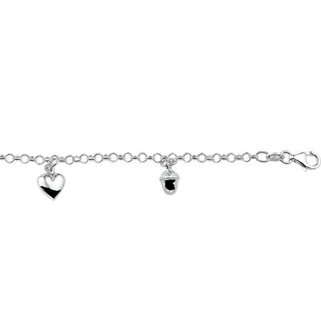 Armband diverse bedels  - 17 cm