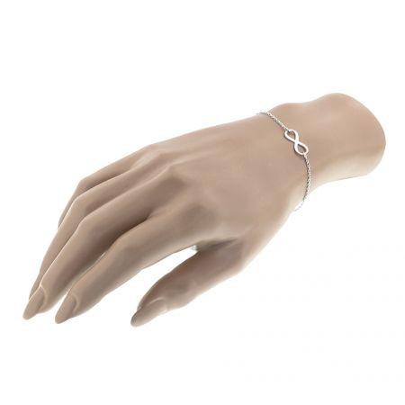 Zilveren armband infinity 17 + 2.5 cm