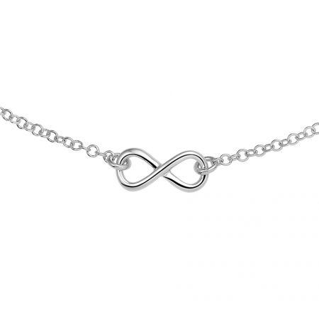 Zilveren  collier met infinity