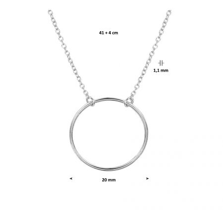 Collier cirkel 1,2 mm 41 + 4 cm