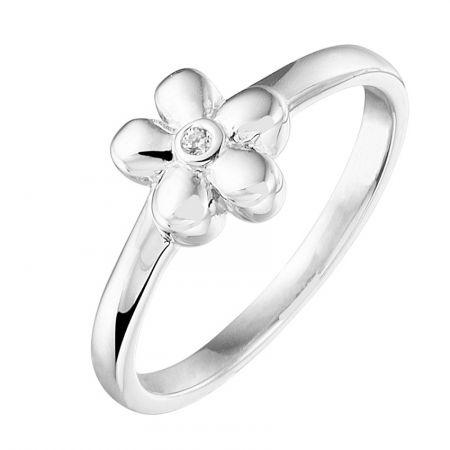 Ring bloem met zirkonia