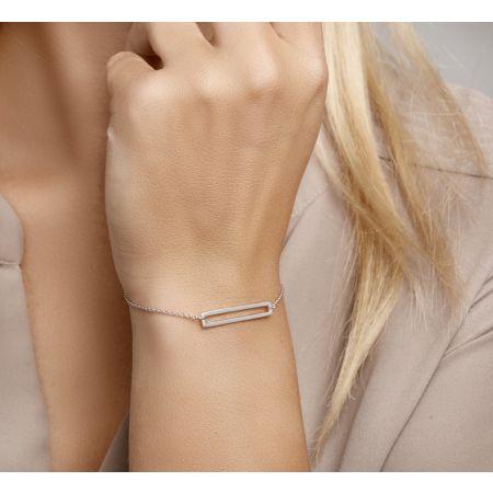 Armband rechthoek 1,3 mm 15,5 + 2,5 cm