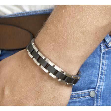 Edelstalen armband