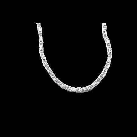Stalen Heren koningsketting 5 mm 55 cm