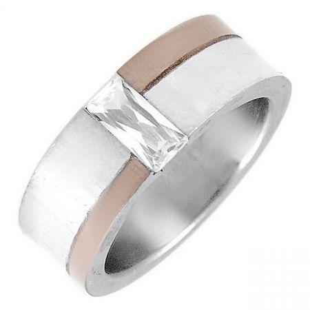 Edelstalen ring