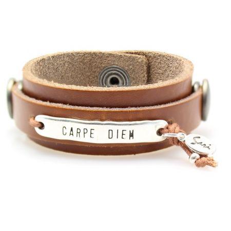 Leren armband -Sari-XS