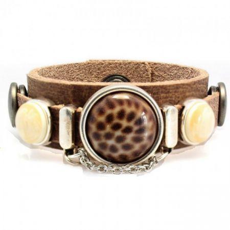Leren armband -Sari- XS