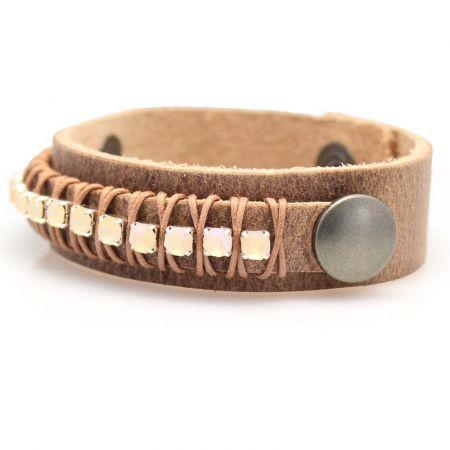 Leren armband -Sari-L